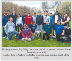 Renegade team picture at practice in May, 2014 courtesy of the Winthrop Transcript