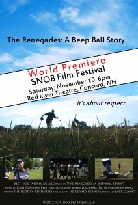 "image of ""The Renegades: A Beep Ball Story"" Documentary's poster"