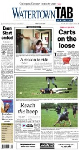 Image of the front page of the Watertown Tab from July 19, 2007