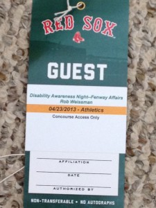 picture of credentials given to the Renegades at Disability Awareness day