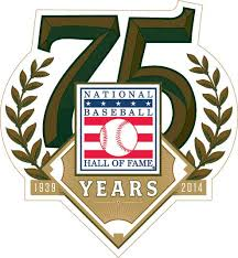 Logo of the baseball hall of fame celebrating 75 years