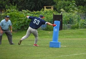 Shaen Devenish hitting a base is Boston's rep on the NBBA Rookie team