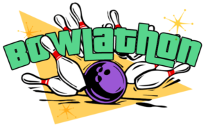Cartoon of a logo for Bowl-a-thon