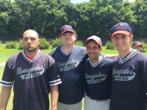 World Series heroes of game three vs Long Island - Rob Dias, Rob Thayer, Guy Zuccarello and Christian Thaxton