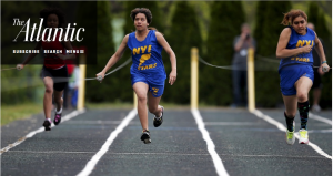 The Atlantic cover shot for article about the world of competitive sports for the blind