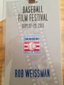 Rob's Credentials for the film festival