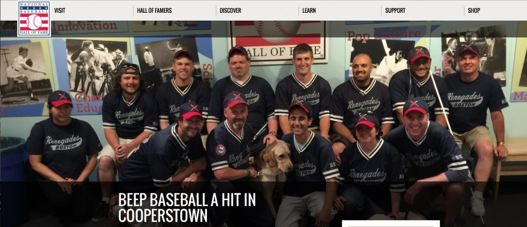 The Boston Renegades visit the Baseball hall of fame after the 2015 World Series