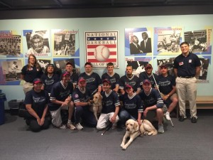 The Renegades pose at the Baseball Hall of Fame