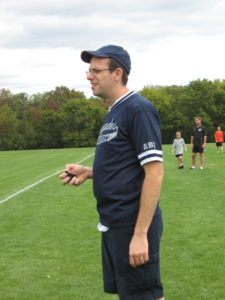 Aaron Proctor pictured here umpiring a game against the Woburn Lions in 2011