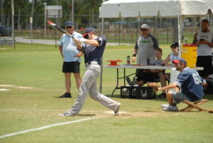 Christian Thaxton at the plate