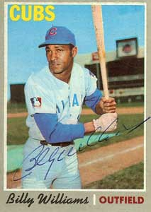 Billy Williams Topps Baseball Card with the Cubs