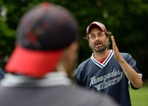Rob Weissman talks to the team
